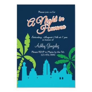 En natt i Havana 8,9 X 12,7 Cm Inbjudningskort