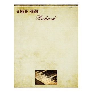 En notera från… piano stämm brevhuvudet brevhuvud