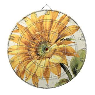 En oavkortad blom för solros piltavla