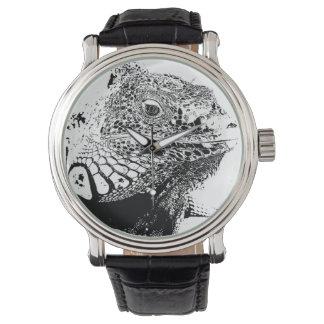 En ödla i B&W Armbandsur