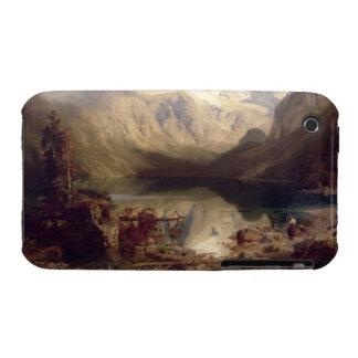 En omfattande alpin sjö landskap 1862 olja på c iPhone 3 fodraler