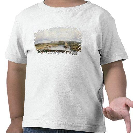 En omfattande flod landskap med en beskåda av Chen T Shirt