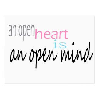En öppen hjärta är ett öppet varar besvärad vykort