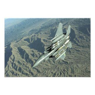 En örn för strejka för US-flygvapen F-15E Fototryck