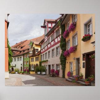 En ovanligt brunn-bevarad medeltida town på poster