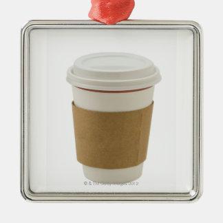 En papper kaffekopp julgransprydnad metall