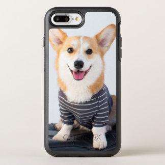 En para av Corgis som sitter på en ta av planet OtterBox Symmetry iPhone 7 Plus Skal