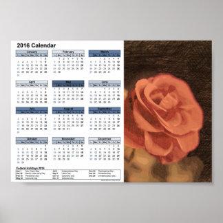 En para av ro i kalender för sketch3 DINA5 2016 Poster