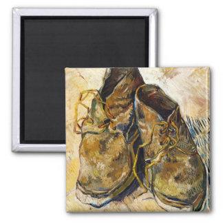 En para av Shoes Vincent Van Gogh konstmålning Magnet
