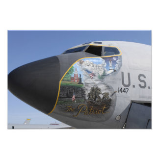 En patriotisk näsa för KC-135 Stratotankerdisplayi Fotontryck