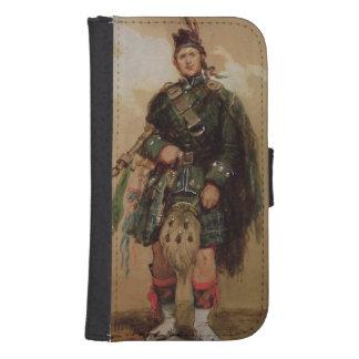 En pipblåsare av de 79th highlandersna på Chobham Galaxy S4 Plånboksfodral