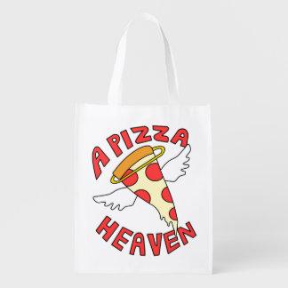 En Pizzahimmel Återanvändbar Påse