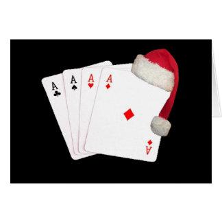 En pokerspelare, till en annan julkort hälsnings kort