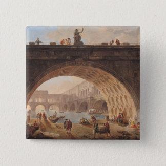 En port, c.1760 standard kanpp fyrkantig 5.1 cm