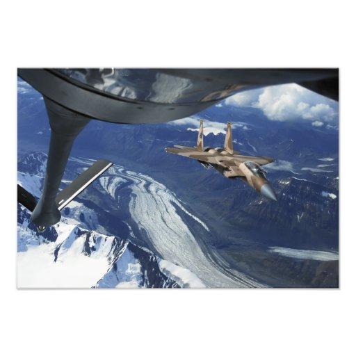 En positionering för örn för US-flygvapen F-15C si Konstfoto