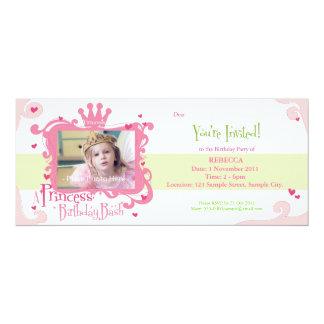 En Princess Födelsedag Slå Invitera 10,2 X 23,5 Cm Inbjudningskort