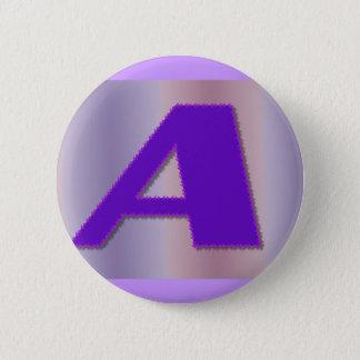 En purpurfärgad mongram standard knapp rund 5.7 cm