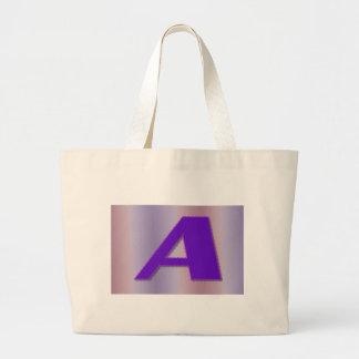 En purpurfärgad monogram jumbo tygkasse