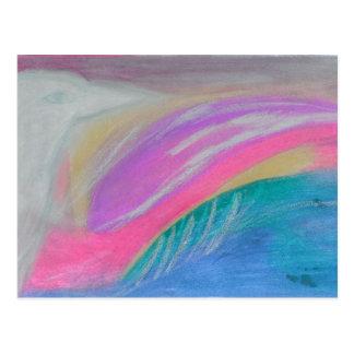 En ravens vinge som så är ljus som tin vykort
