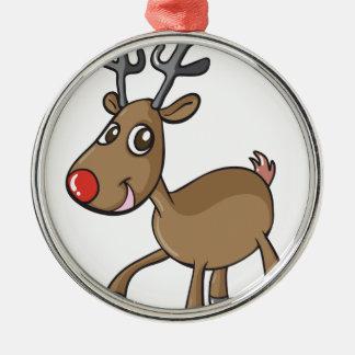 en ren rund silverfärgad julgransprydnad