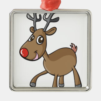 en ren silverfärgad fyrkantigt julgransprydnad