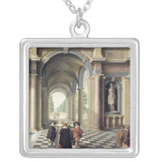 En renaissance Hall Silverpläterat Halsband