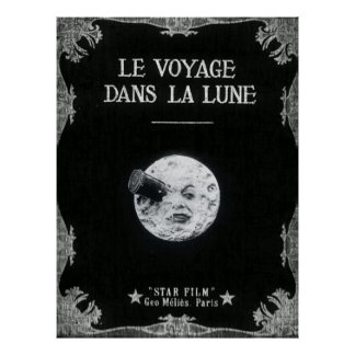 En resa till den Retro franska bion för Poster