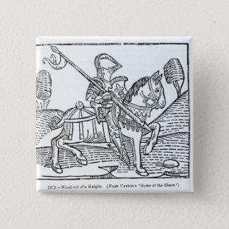 En riddare, från Caxtons 'lek av schack Standard Kanpp Fyrkantig 5.1 Cm