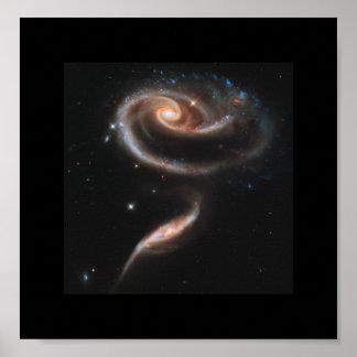 En ro som göras av galaxer - Hubble Poster