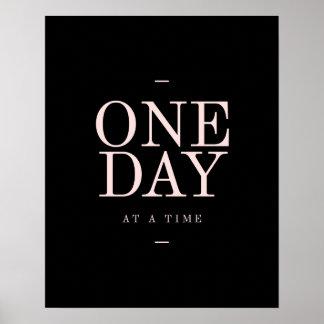 En rosa för svart för Dag-Mål Motivational Poster