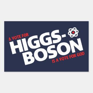 En rösta för Higgs-Boson är en rösta för gud! Rektangulärt Klistermärke