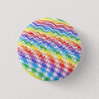 En rytmisk regnbåge mini knapp rund 3.2 cm