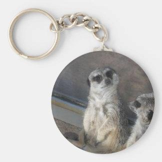 En sådan söta Meerkat! Rund Nyckelring