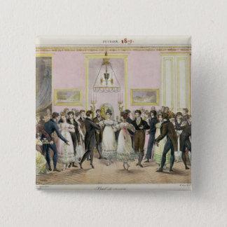 En samhälleboll som inristas av Charles Etienne Standard Kanpp Fyrkantig 5.1 Cm