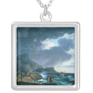 En Seastorm, 1752 Silverpläterat Halsband