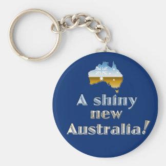 En skina nya Australien Rund Nyckelring