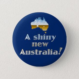En skina nya Australien Standard Knapp Rund 5.7 Cm