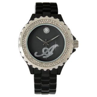 "En skrivafaux ""diamant Bling "", Armbandsur"