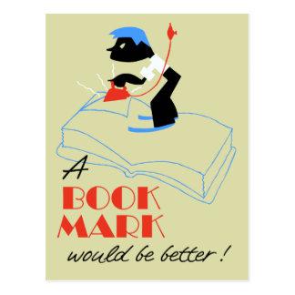 En skulle bokmärke är bättre retro stil vykort