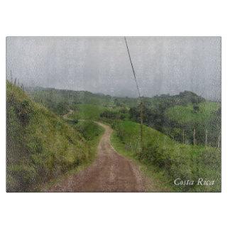 En slingrig väg i Costa Rica