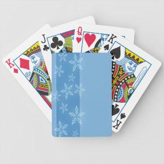 En Snowflakerand Spelkort