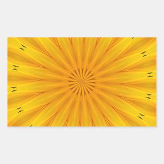 En solrosKaleidoscope Rektangulärt Klistermärke