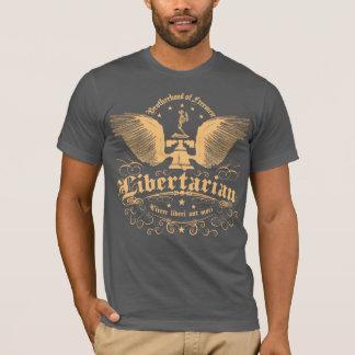 """En som tror på läran om viljans frihet, """"bo inte t-shirt"""