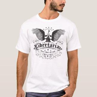 """En som tror på läran om viljans frihet, """"bo inte tee shirt"""