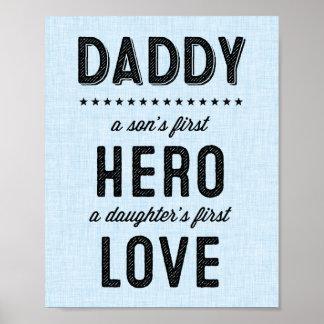 En sons första hjälte, en dotters första poster