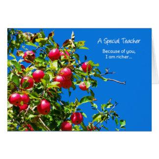 En speciell lärare… hälsningskort