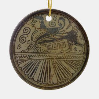 En Sphinx pläterar Julgransprydnad Keramik