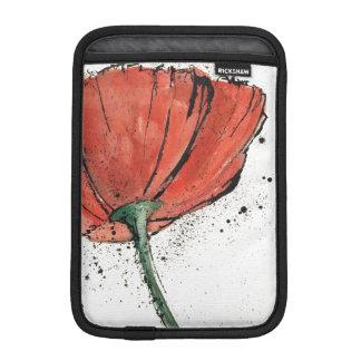 En stängd blomma på en vitbakgrund iPad mini sleeve