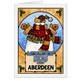 En stor Blustery kram från Aberdeen Hälsningskort