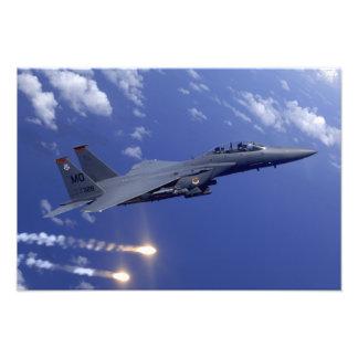 En strejkaörn för flygvapen F-15E Fototryck